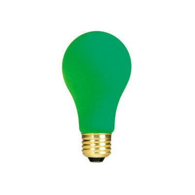 Green 120-Volt Incandescent Light Bulb (Set of 19) Wattage: 25W