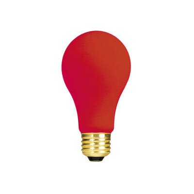 Red 120-Volt Incandescent Light Bulb (Set of 19) Wattage: 60W