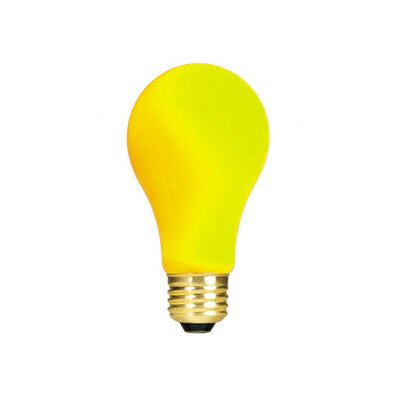 Yellow 120-Volt Incandescent Light Bulb (Set of 19) Wattage: 60W