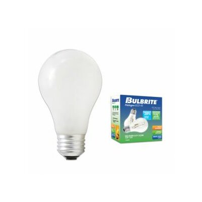 120-Volt Halogen Light Bulb Wattage: 43W