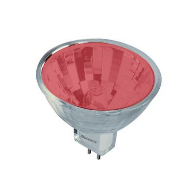 Bi-Pin Red 12-Volt Halogen Light Bulb (Set of 7) Wattage: 50W