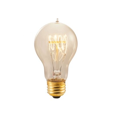 Amber E26/Medium Incandescent Vintage Filament Light Bulb Wattage: 40W