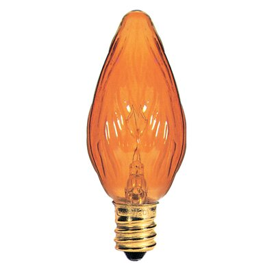 Candelabra Amber 130-Volt (2700K) Incandescent Light Bulb (Part of 8) (Set of 3) Size: 3.13 H x1.25 W