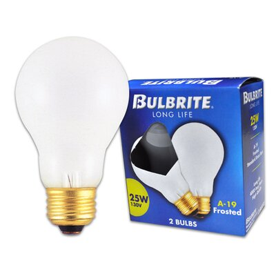 Frosted 130-Volt Incandescent Light Bulb (Set of 26)