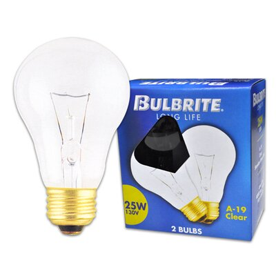 130-Volt Incandescent Light Bulb Wattage: 25W