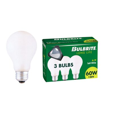 25W General Service A19 Incandescent Bulb in Soft White (Pack of 3) (Set of 20)
