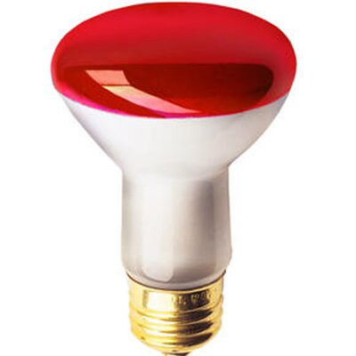 50W Colored Halogen Light Bulb Color: Red