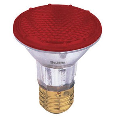 50W Red 120-Volt Halogen Light Bulb (Set of 4)