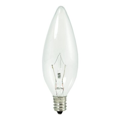 (3000K) Light Bulb (Pack of 10) (Set of 2) Bulb Type: 25W  B10 Small Base