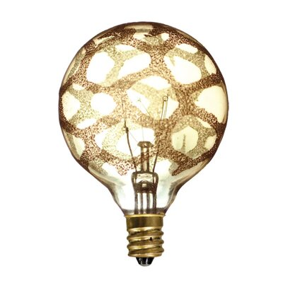 40W Amber E12/Candelabra Incandescent Light Bulb (Set of 6)