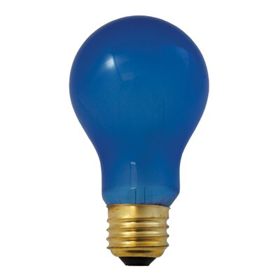 60W Blue Incandescent Light Bulb (Set of 2)