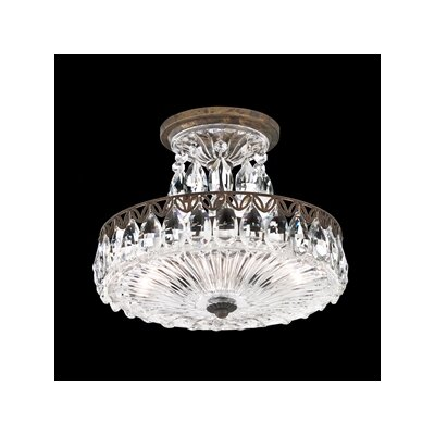 Fontana Luce 2-Light Semi Flush Mount Finish: Black Pearl