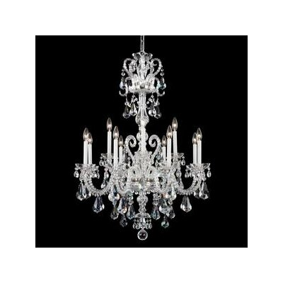 Novielle 12-Light Candle-Style Chandelier Finish: Polished Silver