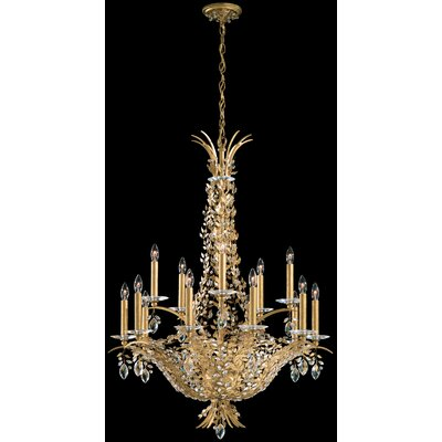 Amytis 15-Light Candle-Style Chandelier Finish: Antique Silver, Crystal Type: Swarovski Elements Clear