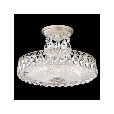 Fontana Luce 3-Light Semi Flush Mount Finish: Black Pearl