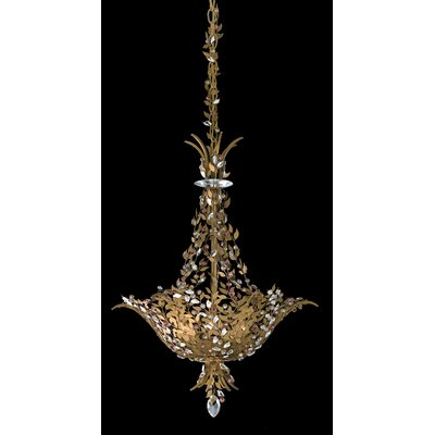 Amytis 3-Light Inverted Pendant Finish: Heirloom Gold, Crystal Type: Swarovski Elements Clear