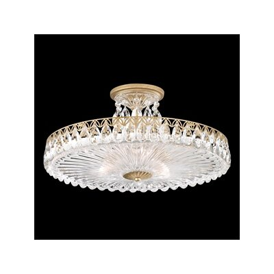 Fontana Luce 3-Light Semi Flush Mount Finish: Heirloom Gold