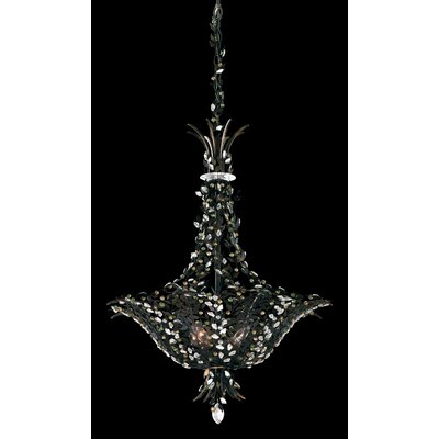 Amytis 4-Light Inverted Pendant Crystal Type: Swarovski Elements Clear, Finish: Antique Silver