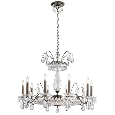 Fontana Luce 14-Light Candle-Style Chandelier Finish: Black Pearl