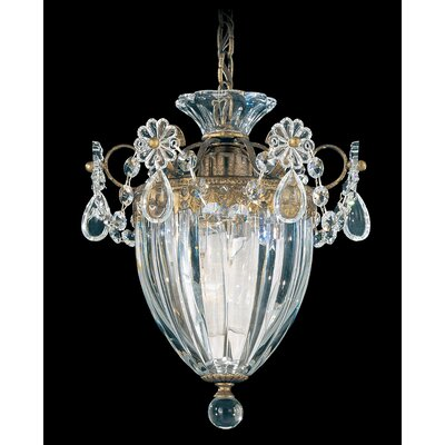 Bagatelle 1-Light Mini Pendant Finish: Heirloom Gold, Crystal Type: Clear Heritage Crystal