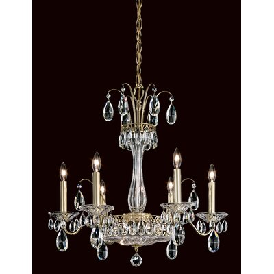 Fontana Luce 8-Light Candle-Style Chandelier Finish: Silver