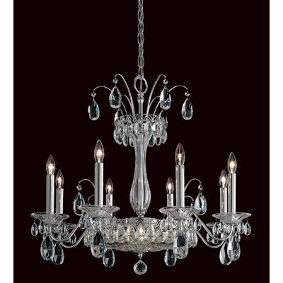 Fontana Luce 10-Light Candle-Style Chandelier Finish: Antique Silver