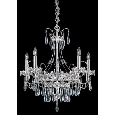 Ekaterina 5-Light Crystal Chandelier Finish: Stainless Steel