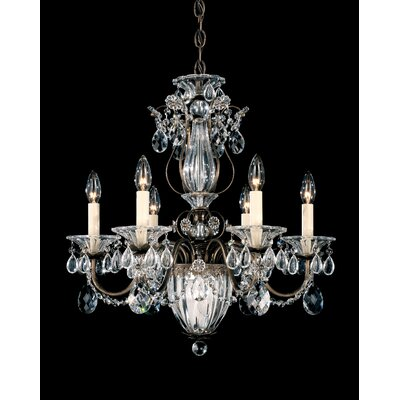 Bagatelle 7-Light Candle-Style Chandelier Finish: Antique Silver, Crystal Type: Swarovski Elements Clear
