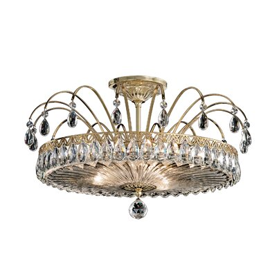 Matrix 3-Light Semi Flush Mount Finish: Etruscan Gold
