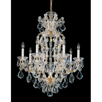 Maria Theresa 8-Light Crystal Chandelier Finish: Silver Leaf