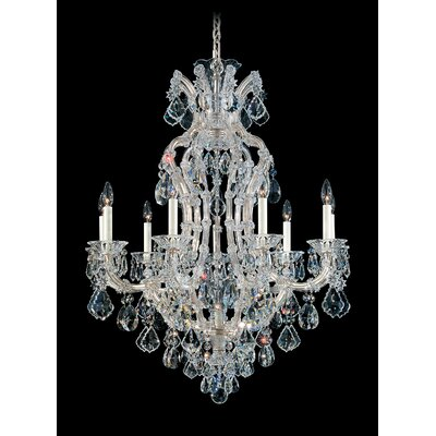 Maria Theresa 10-Light Candle-Style Chandelier Finish: Silver Leaf