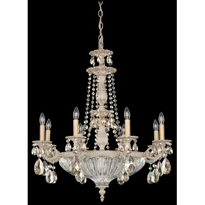 Milano 12 Light Crystal Chandelier Crystal Type: Spectra Clear, Finish: Etruscan Gold