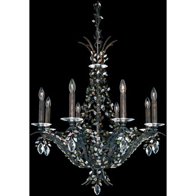 Amytis 8-Light Crystal Chandelier Crystal Type: Swarovski Elements Clear, Finish: Antique Silver