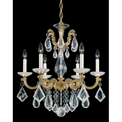 La Scala 6-Light Crystal Chandelier Finish: French Gold