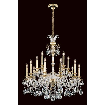Rivington 15-Light Crystal Chandelier Finish: Silver