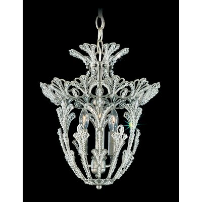 Rivendell 3-Light Mini Chandelier Finish: Heirloom Bronze, Crystal Type: Swarovski Elements Clear