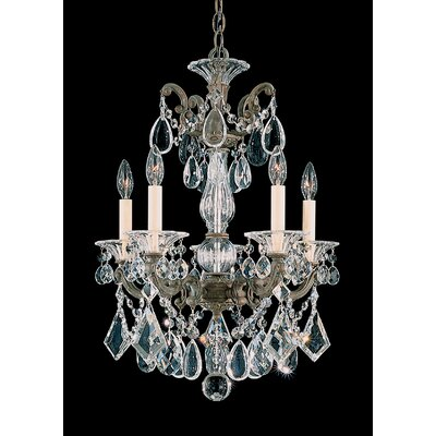 La Scala 5-Light Candle-Style Chandelier Finish: Heirloom Gold, Crystal Type: Clear Spectra Crystal