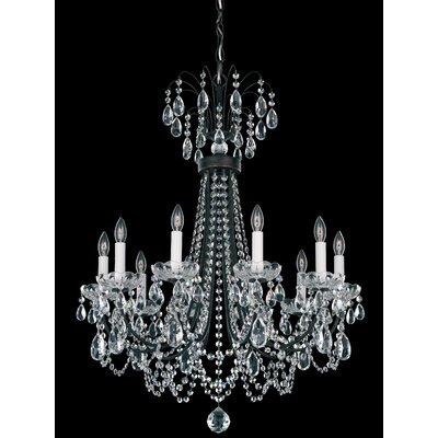 Lucia 10-Light Candle-Style Chandelier Color: Antique Silver