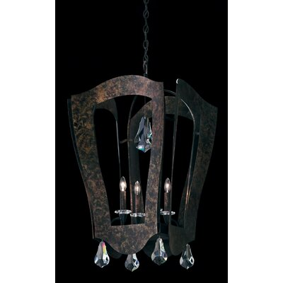 Linterna 4 Light Foyer Pendant Crystal Type: Heritage Handcut Clear, Finish: Heirloom Bronze