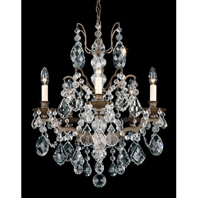 Bordeaux 5-Light Crystal Chandelier Finish: Heirloom Gold, Crystal Type: Legacy Clear