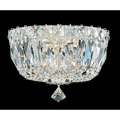 Petit 3-Light Flush Mount Finish: Aurelia, Crystal Type: Spectra Clear