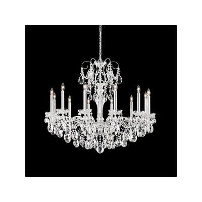 Sonatina 12-Light Candle-Style Chandelier Finish: Antique Silver, Crystal Type: Heritage Clear