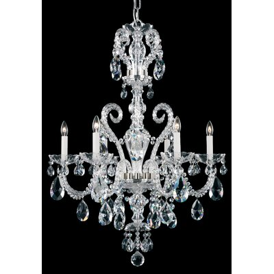 Novielle 6-Light Candle-Style Chandelier Finish: Polished Silver, Crystal Type: Swarovski Elements Clear
