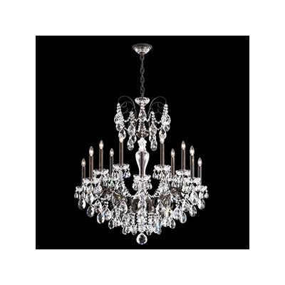 Sonatina 14-Light Crystal Chandelier Crystal Type: Heritage Clear, Finish: Antique Silver