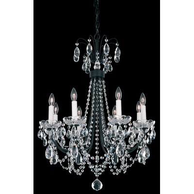 Lucia 8-Light Candle-Style Chandelier Color: Antique Silver