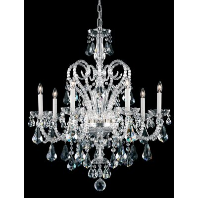 Novielle 7-Light Crystal Chandelier Crystal Grade: Swarovski Elements, Finish: Polished Silver