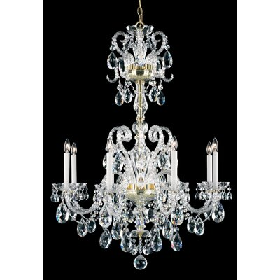 Novielle 8-Light Candle-Style Chandelier Finish: Polished Silver, Crystal Grade: Swarovski Elements
