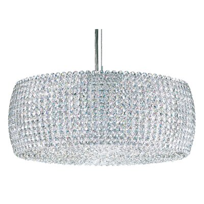 Dionyx 3-Light Drum Pendant Crystal Type: Swarovski Elements Travertine