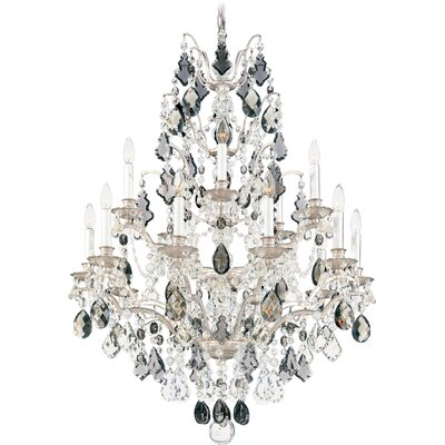 Bordeaux 15-Light Candle-Style Chandelier Finish: Antique Silver, Crystal Color: Legacy Clear