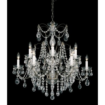 Madison 12-Light Crystal Chandelier Finish: Silver